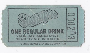 shampoo drink ticket  rs